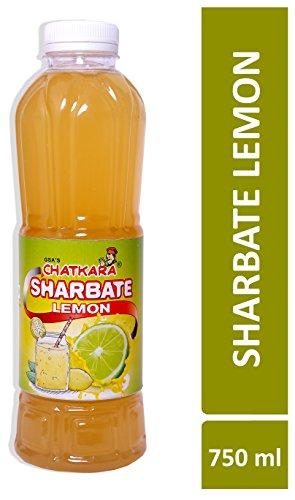 GSA's Chatkara® Lemon (750ml) Syrup Squash Sharbat for Drink/Milkshake/Falooda/Ice-Cream/Lassi/Liquids/Juice/Soda/Cocktails/Milk Powder. Pack of 1 Bottle.