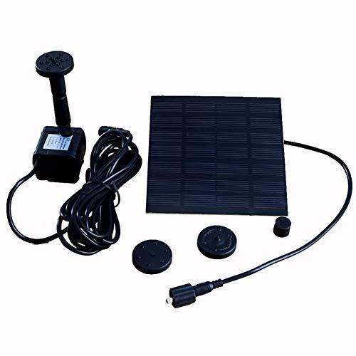 Bomba de agua solar para baño de aves, estanque pequeño, jardín y césped. Kit de paneles de fuente al aire libre solarespecificaciónPanel solar: 7V / 1.2WSalida de la bomba: DC 4-9VFlujo máximo: 180L / hElevación máxima: 80cm / 31.5 pulgadasLongitud ...