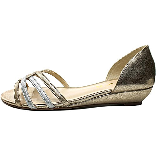 Unisa Annyie Synthétique Chaussure Plate Gold Multi