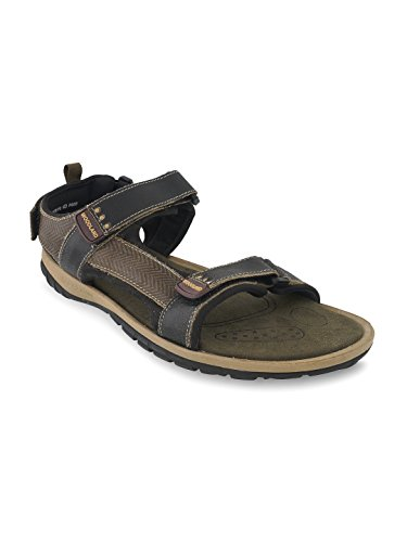 Woodland Men's Camel Leather Sandals  available at amazon for Rs.1756
