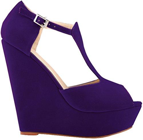 CFP ,  Damen Peep Toes Violett