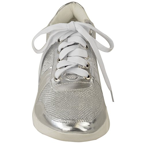 Neu Damen Flach Schnürschuhe Sneakers Sportschuhe Sport Mode Fitnessstudio Schuh Größe Schwarz Kunstwildleder zpP1nte8