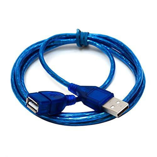 längerungskabel, USB Verlängerung Kabel High-Speed Datenübertragung und Laden für Kartenlesegerät,Tastatur, Drucker, Scanner, Kamera usw ()