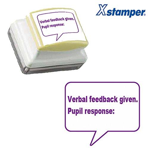 Verbal Feedback Given. Schüler Response: Lehrer selbstfärbend Markieren–Stempel, violette Tinte