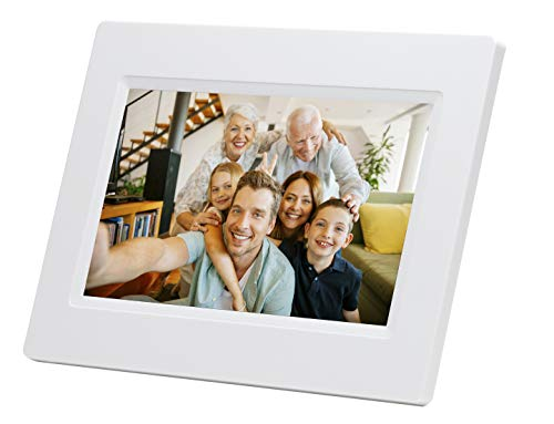Denver PFF-710 17,78 cmm (7 Zoll) Bilderrahmen mit WI-FI, weiß -