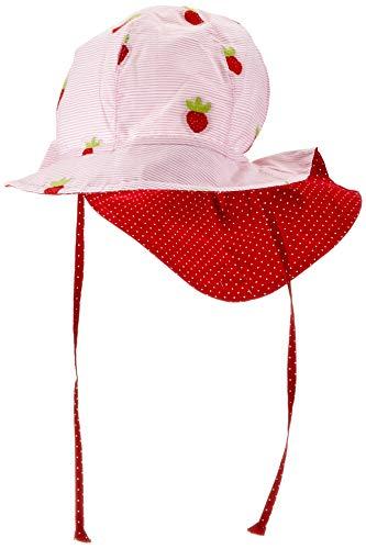 maximo Mädchen Flapper, Nackenschutz Mütze, Rosa (Zartrosa-Rot-Erdbeeren/Richel....
