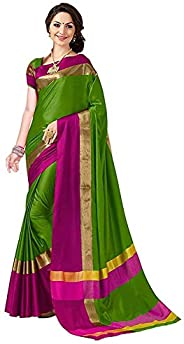 PERFECTBLUE Women`s Cotton Silk saree with Blouse Piece