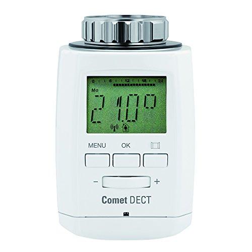 Eurotronic Comet DECT Heizkörperthermostat/Thermostat mit Internetzugang – kompatibel mit AVM FRITZ!Box/App gesteuertes Heizungsthermostat - Weiß