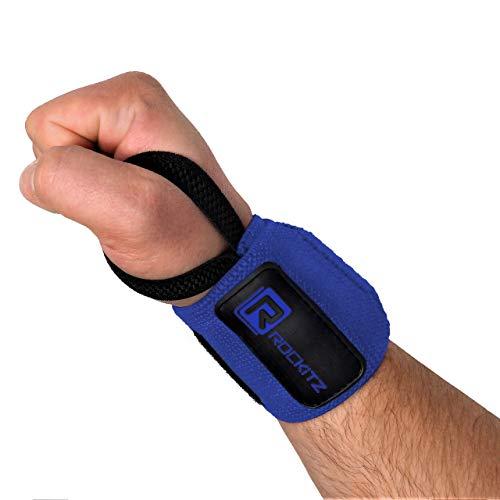 ROCKITZ Handgelenk Bandagen - 45 cm Handgelenkbandage für Fitness, Bodybuilding, Kraftsport & Crossfit - für Frauen und Männer
