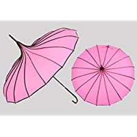 umbrella Solid Color Long Handle Anti-ultraviolet Umbrella Retro Palace Pagoda Umbrella An Umbrella Creative Umbrella Princess Umbrella Sun umbrella ( Color : # 4 )