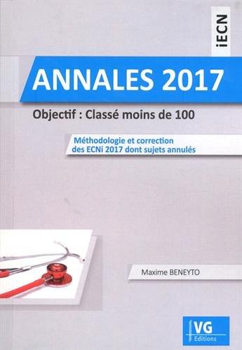 Annales iECN 2017 : Objectif : classé moins de 100