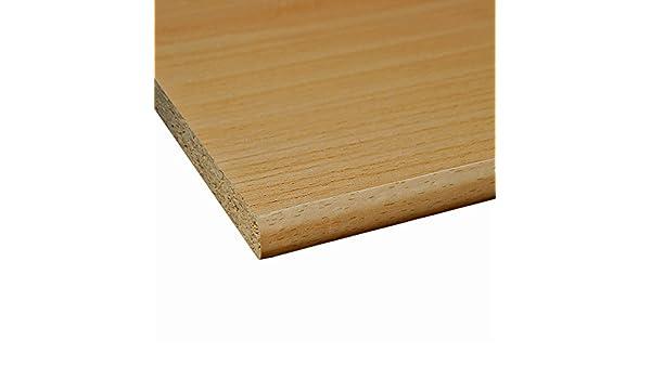 2 Seiten umleimt M/öbelbauplatte Regalbrett Esche Schwarz 2600 x 300 x 19 mm runde Kante