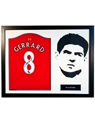 Steven Gerrard - Framed Signed Liverpool F.C Shirt - Silhouette