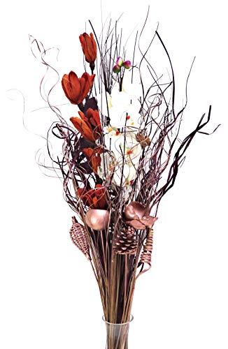 Oro rosa essiccati & artificiale bouquet di fiori, 90cm, pronto per un vaso