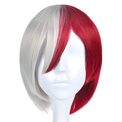 ge My Hero Academia Perücke von Shoto Todoroki (Rotes Haar Mädchen Halloween Kostüme)