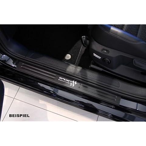 Negro placas de umbral Inoxidable para MAZDA CX-5 Año de construcción 2012- hasta hoy