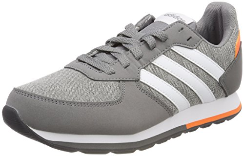 adidas Unisex-Kinder 8K Gymnastikschuhe, Mehrfarbig (Grey Three F17/Ftwr White/Hi-RES Orange S18), 29 EU (Und Orange Grau-tennis-schuhe)