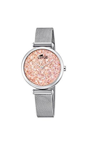 ca6f810ee37f Lotus Watches Reloj Análogo clásico para Mujer de Cuarzo con Correa en  Acero Inoxidable 18564