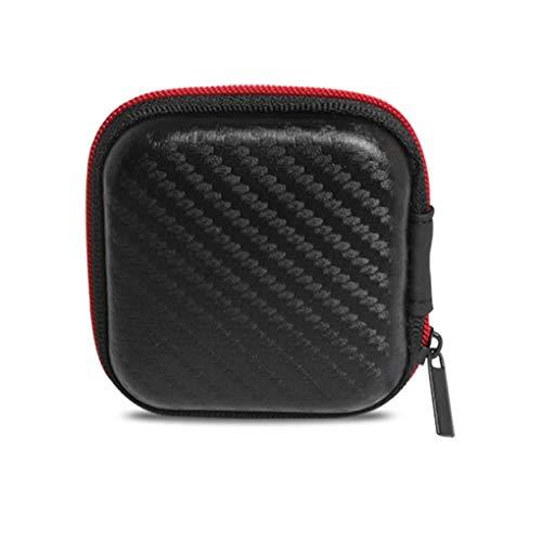 Providethebest for KZ Zipper Earphone Storage Box Portable Headphone Case Earbuds Hard Case Carrying Pouch Earphone Organizor (Hard Case Storage Box)