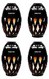 Beatfoxx FA-50 Soundspark Advent 4er Set (Portable Bluetooth-Kerze im 4er Set mit Lautsprecher & LED Flammeneffekt & integriertem Akku ideal für Zuhause, Camping, Balkon und Garten) Schwarz
