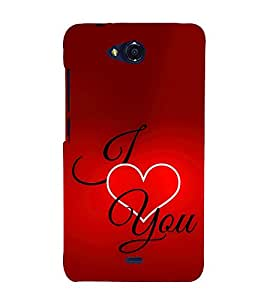 EPICCASE I Love You Mobile Back Case Cover For Micromax Canvas Play Q355 (Designer Case)