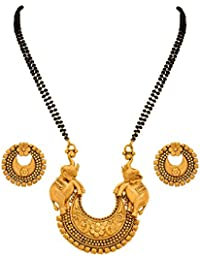 BFC- Ethnic Elephant Designer Big Pendant 24 Inches Long Mangalsutra For Woman