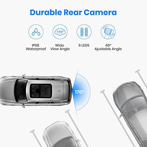 AUTO-VOX Caméra de Recul Voiture Sans Fil, 6 LEDs Etanche IP67(Haute vision  nocturne) Vision Angle 170°   4.3 pouces TFT Ecran en haute définition ... 056e42f2d0e5