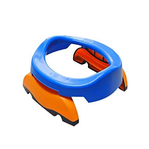 Asientos Plegable Portátil Asiento De Inodoro WC Para Niños Bebé Potette Gastos Baño - Azul, 10L