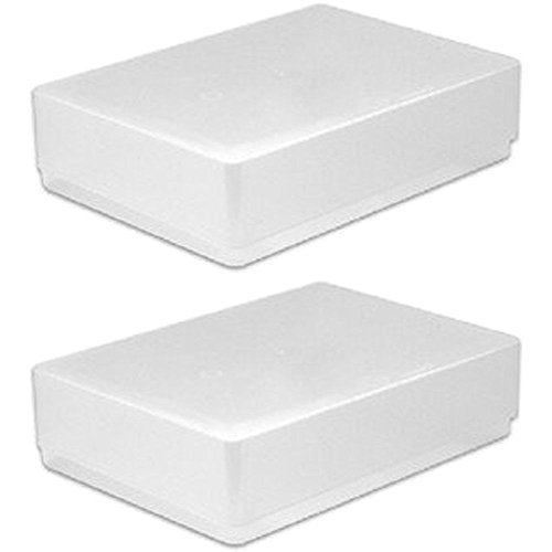 new-2-x-a5-clear-plastic-paper-storage-crafts-cards-box-office-leaflet-flyer-craft-boxes-holder-pack