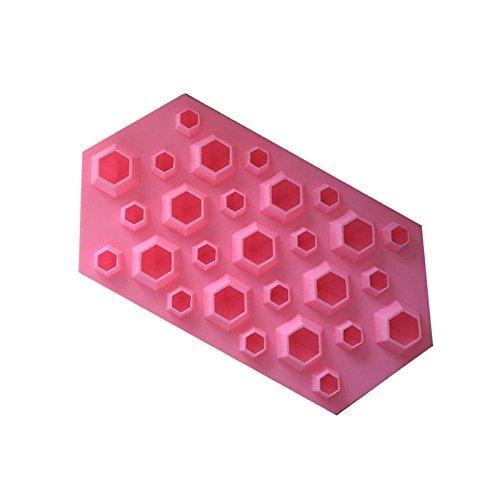 HCFKJ Diamantform Eiswürfelschale 27 Kavitäten Kristall Silikon Eisform Candy PK (Baby Flasche Pops Candy)