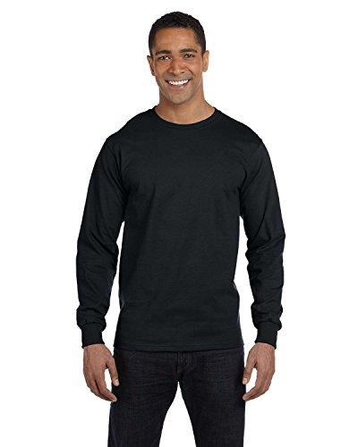 hanes-beefy-t-langarm-t-shirt-erwachsene-gr-us-l-schwarz