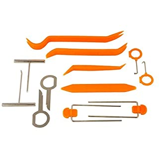 Approved for Automotive AFA [12 Pcs] Auto Trim Removal Tool ~ Strong Nylon Won't Brake Like ABS - BONUS Fastener Remover