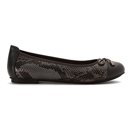 Vionic Womens 359 Gerrit Minna Leather Shoes Grey Snake