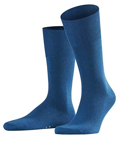 FALKE Herren Socken / Herrensocken Airport - 1 Paar, Gr. 41-42, blau, Merinowolle Baumwolle, atmungsaktiv, Business Strümpfe