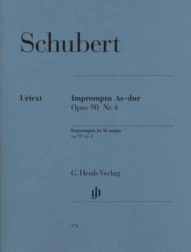 Impromptu A flat major op. 90/4 D 899 - piano - (HN 374) par Franz Schubert