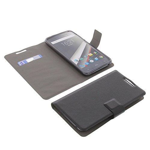 foto-kontor Tasche für Phicomm Clue L Book Style Ultra-dünn Schutz Hülle Buch Schwarz