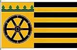 Königsbanner Autoflagge Wentorf bei Hamburg - 30 x 45cm - Flagge und Fahne
