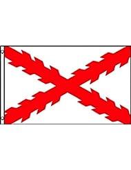 BANDERA del DUCADO DE BORGOÑA 150x90cm - BANDERA DUCHÉ DE BOURGOGNE - FRANCIA 90 x 150 cm - AZ FLAG