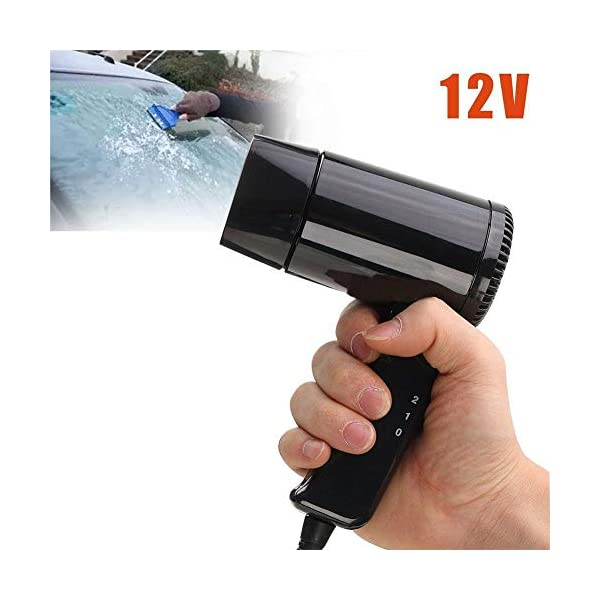 Starmood 12V Hot & Cold Travel Car Folding Camping Hair Dryer Window Defroster 3