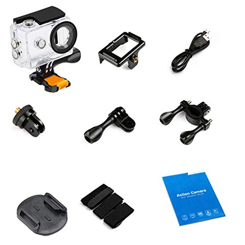 WLG Action Cameras A9 Big Eyes Cartoon 1080P 12Mp impermeabile Sport Cam Dv - Mini fotocamera subacquea digitale - con batteria ricaricabile e accessori di montaggio