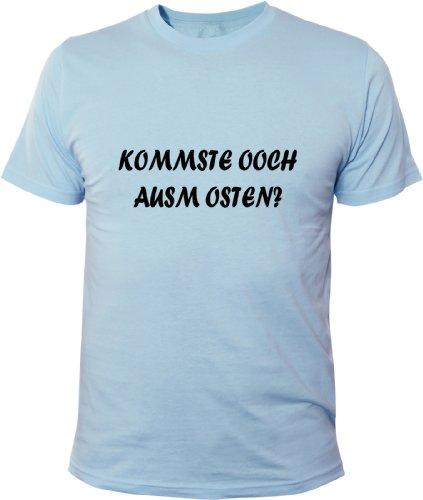 Mister Merchandise Cooles Fun T-Shirt Kommste ooch ausm Osten? Hellblau