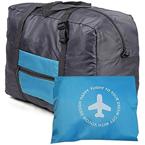 Grande borsa da viaggio pieghevole, vestiti a forma di borsa, colore: verde