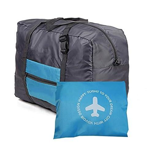 Travel für große Gepäck Tasche klappbare Kleidung Aufbewahrung oder Duffle Bag Blau (I Migliori Bagaglio A Mano Viaggio)