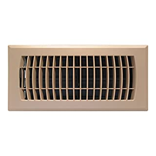 Accord APFRTPL410 Plastic Floor Register with Louvered Design, 4-Inch x 10-Inch(Duct Opening Measurements), Taupe Finish
