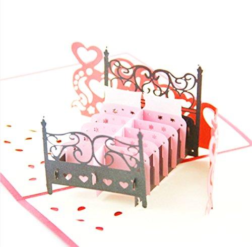 Bett Fun blanko 3D Pop up Display Jahrestag Karten Display Hochzeit Idee Geburtstag Boy DIY Mädchen Freund Viel Glück Goodbye alle Anlass Baby Grußkarten Graduation