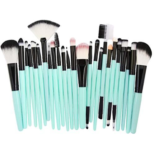 Sentaoa 25 pezzi pennelli make up set professionale pennelli trucchi cosmetici spazzola fondotinta fard powder brushs (stile 7,13.9-16.5cm)