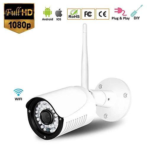 XINCH-MONITOR 1080P FHD WiFi IP Kamera Nachtsicht Home Surveillance 2.0MP Outdoor wetterfest mit Bewegungserkennung 32G TF-Karte
