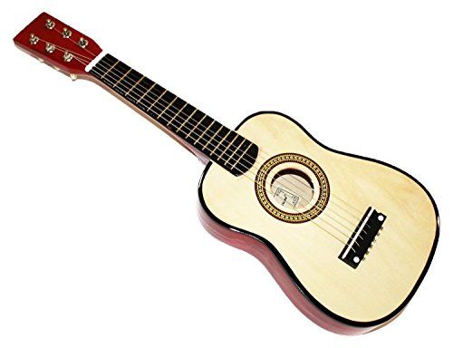 Cher Rystone 0754235506553�Strings 1/16�Children's Wooden Toy Guitar 23�inch Natural