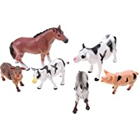 UMKYTOYS 6 Large Farm Animals For Kids Toddlers Farmyard Toys