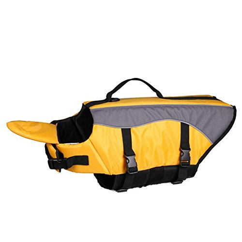 REXSONN® Hunde Warnweste Schwimmweste Schwimmhilfe für Hunde-Schwimmweste Rettungsweste Float Coat pet dog life Preserver jacket Reflektoren (Dog Schwimmhilfe)